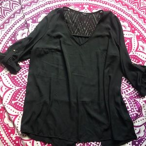 Beautiful Sheer Black Blouse